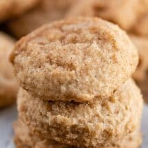 stack of apple butter snickerdoodles