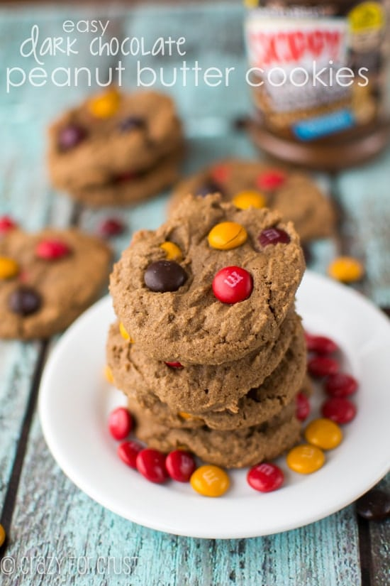 Dark Chocolate Peanut Butter Cookies (3 of 7)w