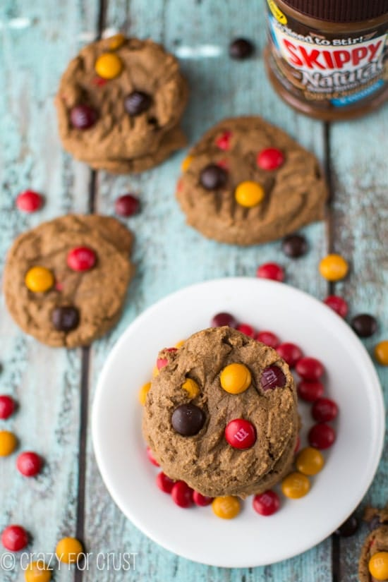 Easy Dark Chocolate Peanut Butter Cookies | crazyforcrust.com