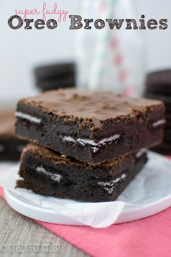 Oreo Brownies | www.crazyforcrust.com| Super fudgy and oh so amazing!