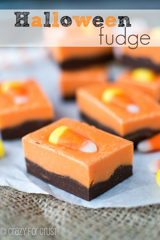 Halloween Fudge - perfect for a class treat! | crazyforcrust.com | #halloween