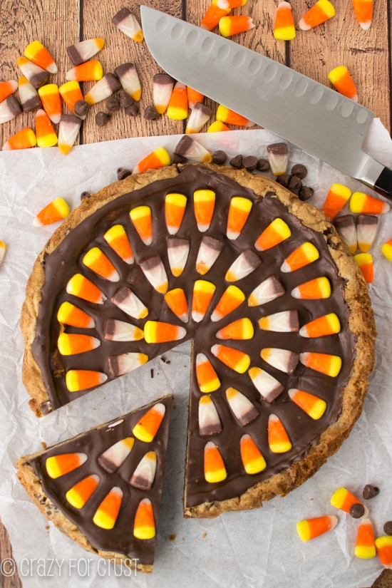 Harvest Chocolate Chip Cookie Cake | crazyforcrust.com
