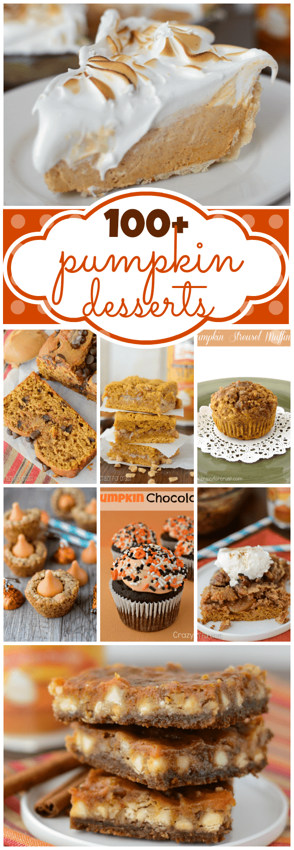Over 100 Pumpkin Dessert Recipes