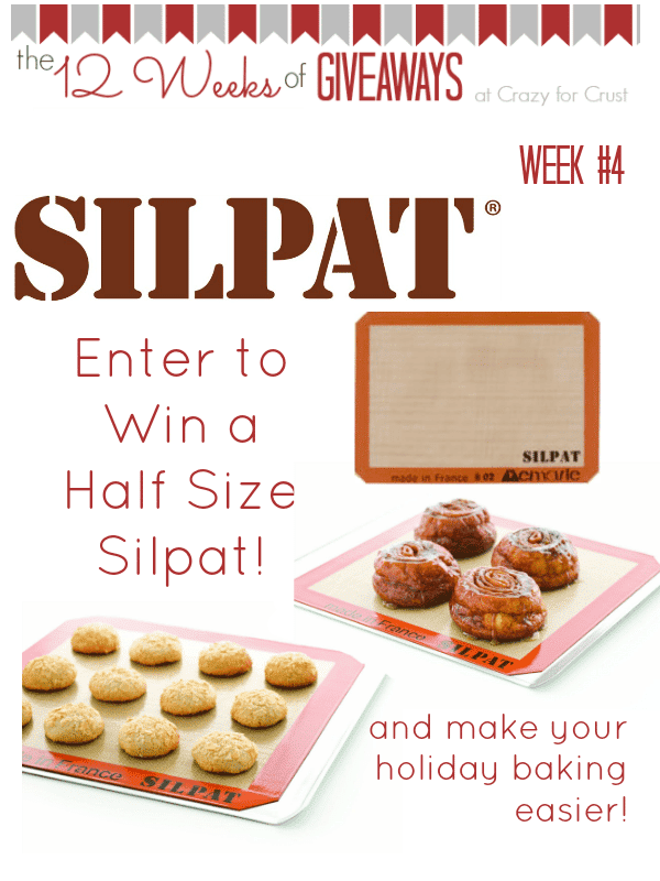Silpat Giveaway at www.crazyforcrust.com