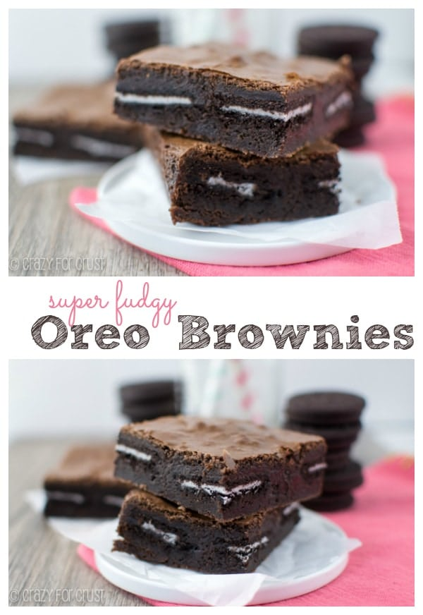 These Oreo Brownies are the best yet! | crazyforcrust.com
