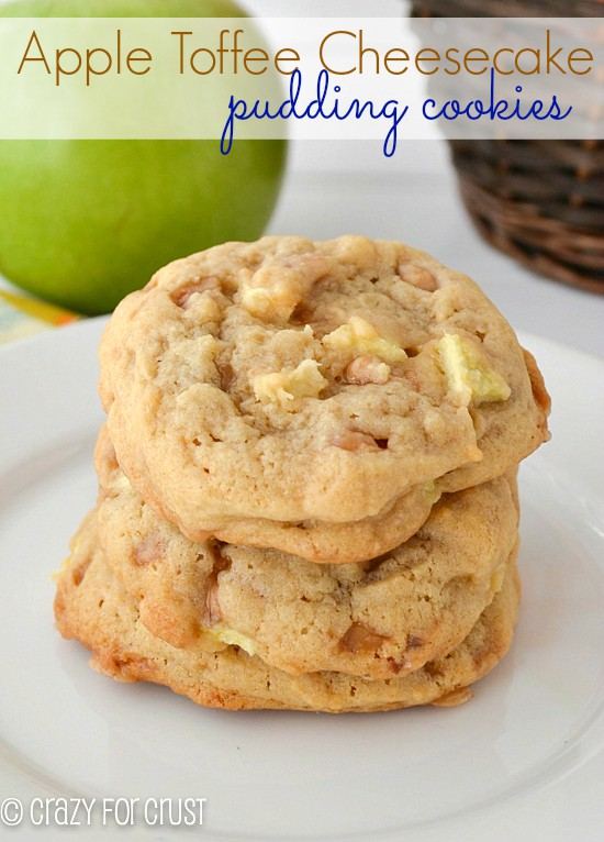 Apple Toffee Pudding Cookies