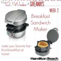 breakfast sandwich maker giveaway