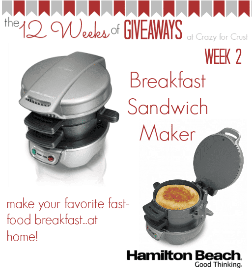Breakfast Sandwich Maker Giveaway at crazyforcrust.com