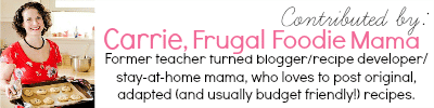 carrie , frugal foodie mama