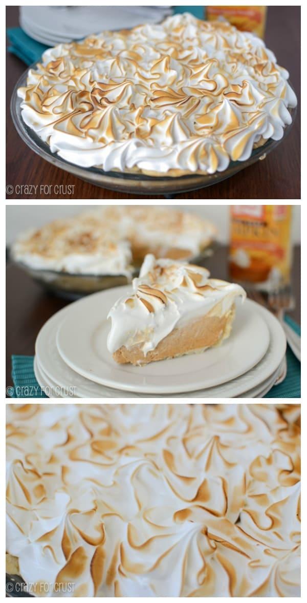 Frozen Pumpkin Meringue Pie | www.crazyforcrust.com | The BEST meringue I've ever had!
