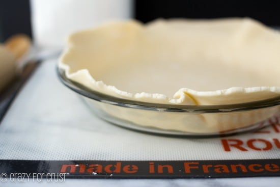All Butter Pie Crust in a pie dish