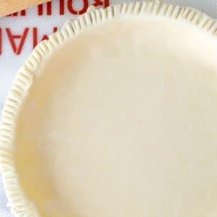 all butter pie crust overhead shot