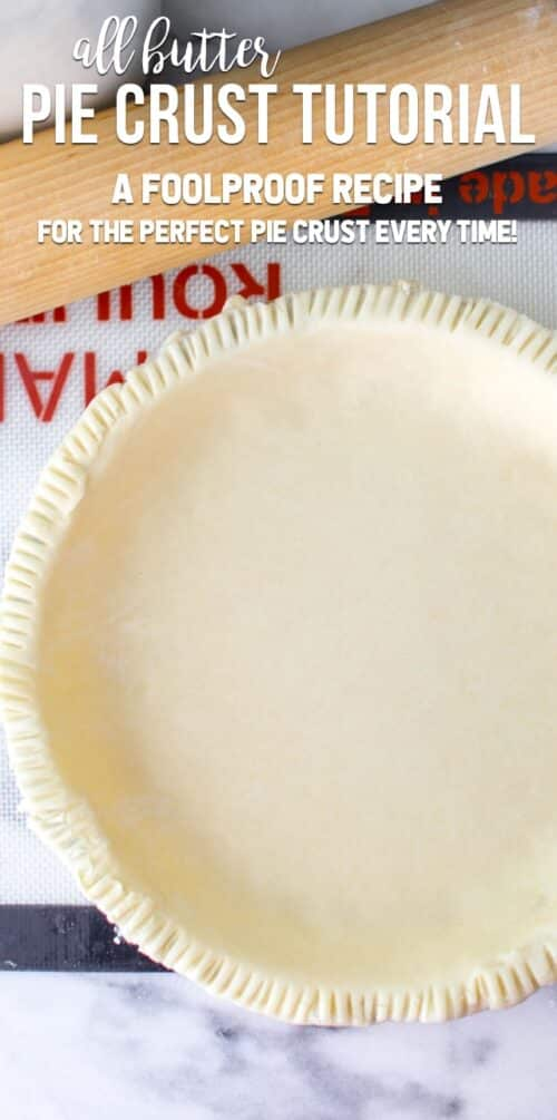 All Butter Pie Crust {step-by-step photos and video tutorial}
