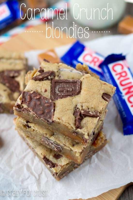 Caramel Crunch Blondies {and a care package}