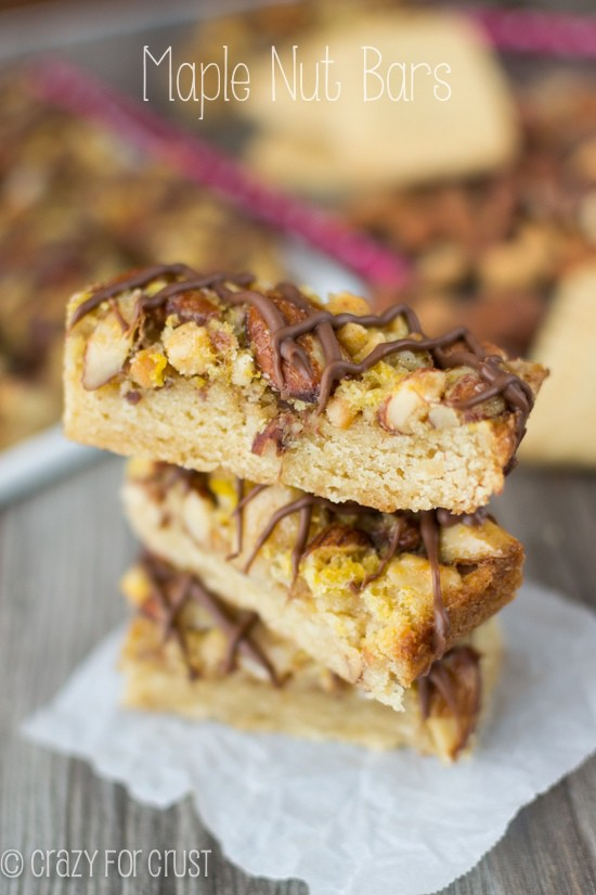 Maple Nut Bars | crazyforcrust.com