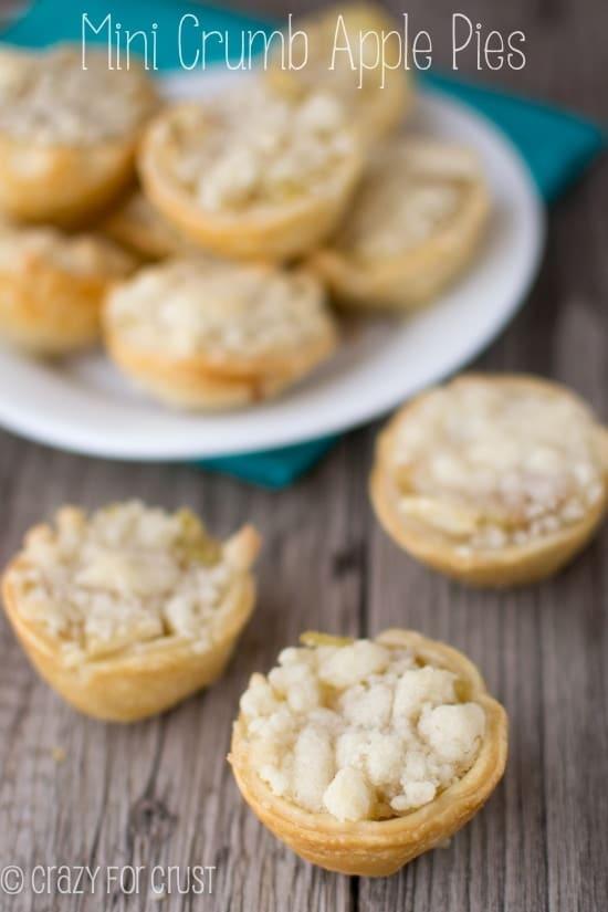 Mini Crumb Apple Pies