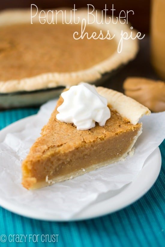 Peanut Butter Chess Pie | crazyforcrust.com