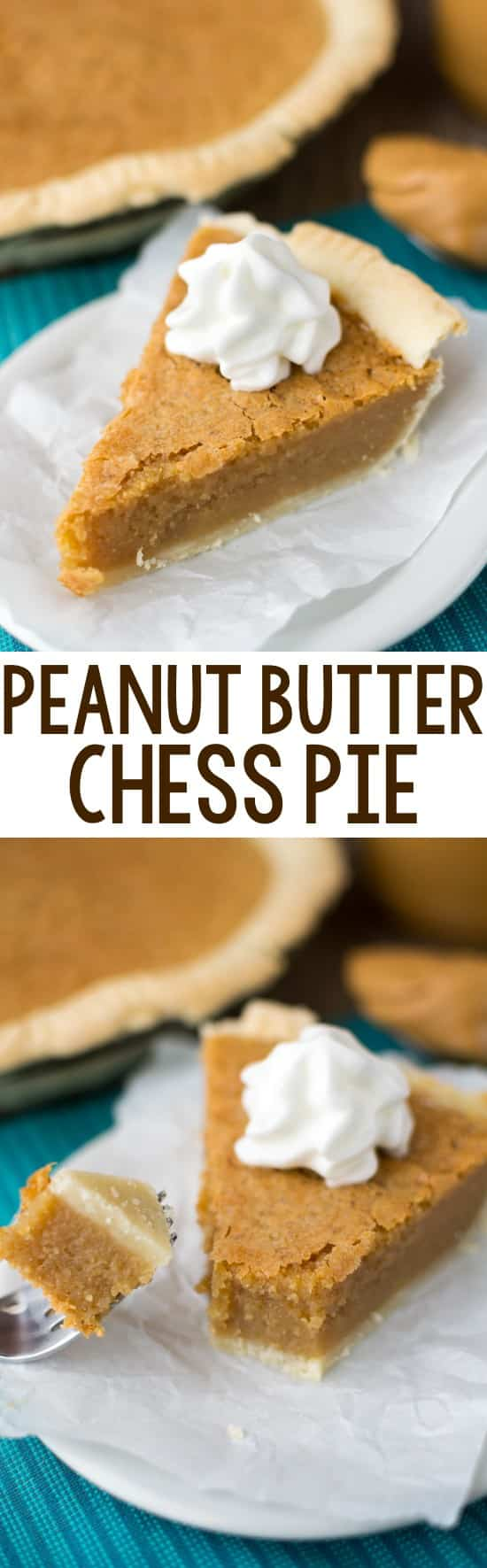 Easy Peanut Butter Chess Pie - this is a classic chess pie recipe full of peanut butter flavor!