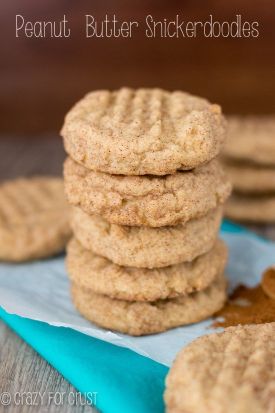 Peanut Butter Snickerdoodles | www.crazyforcrust.com