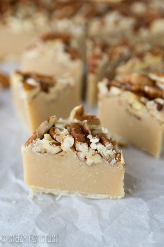 Pecan Pie Fudge | crazyforcrust.com