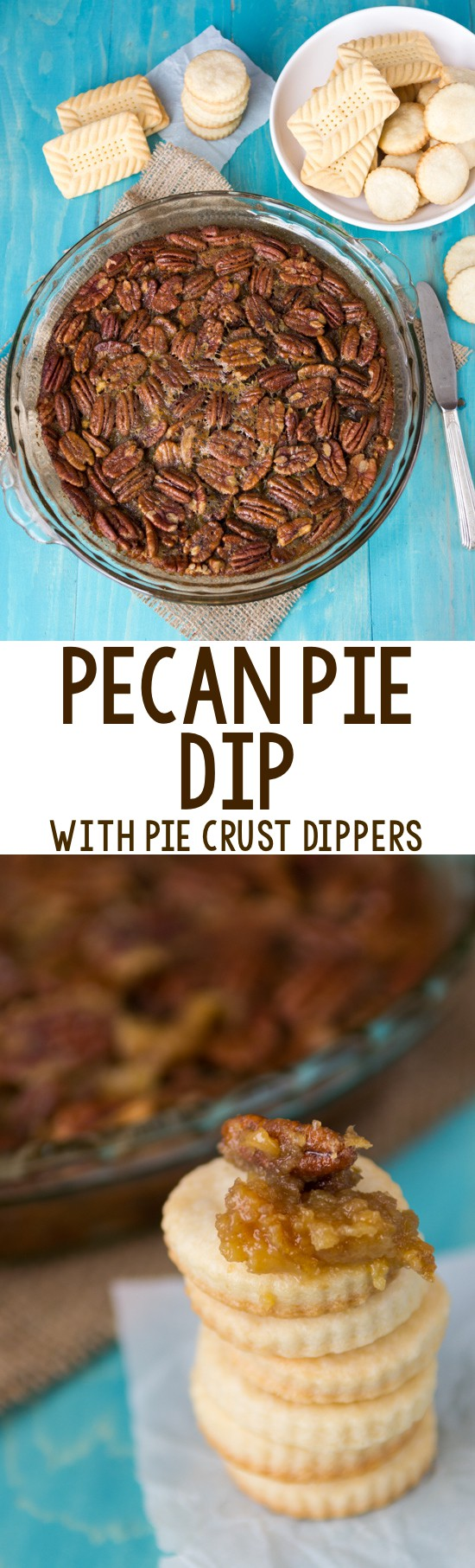 My favorite dip - a hot Pecan Pie Dip! It's a pecan pie recipe without the crust. Serve the crust or cookies for dippers for the perfect party appetizer.