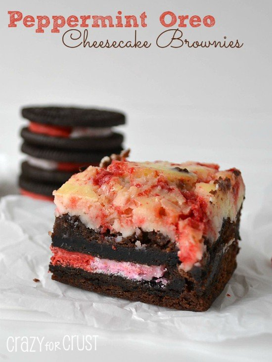 Peppermint Oreo Cheesecake Brownies1