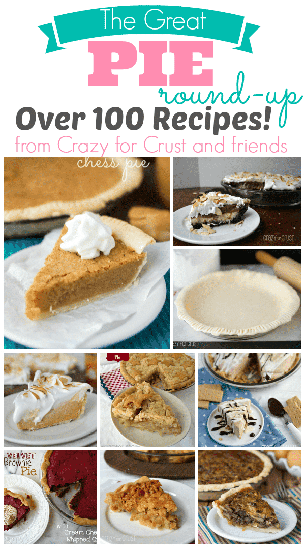 Picture collage of pie recipes plus graphic