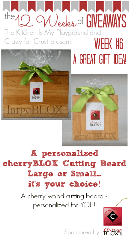 Enter to win a cherryBLOX from crazyforcrust.com