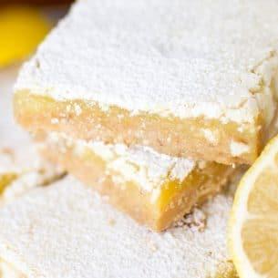 stack of white chocolate lemon bars