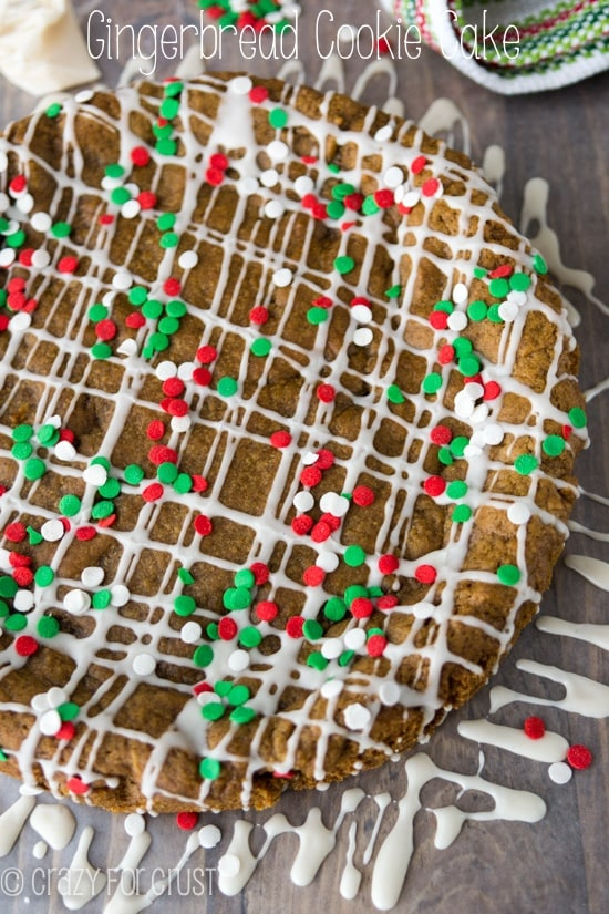 Gingerbread Cookie Cake