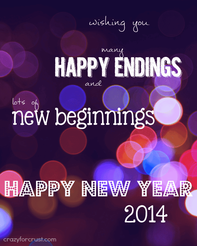 Purple graphic with different color bubbles wishing you a happy new year