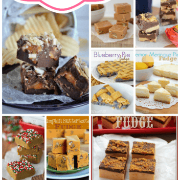 Pic collage of 100 fudge recipes with title