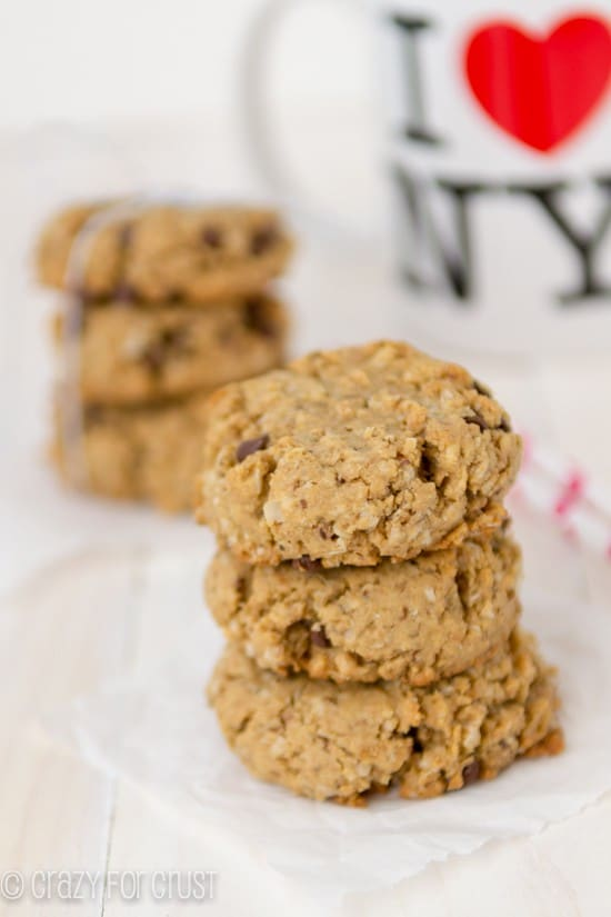 Peanut Butter Breakfast Cookies | crazyforcrust.com