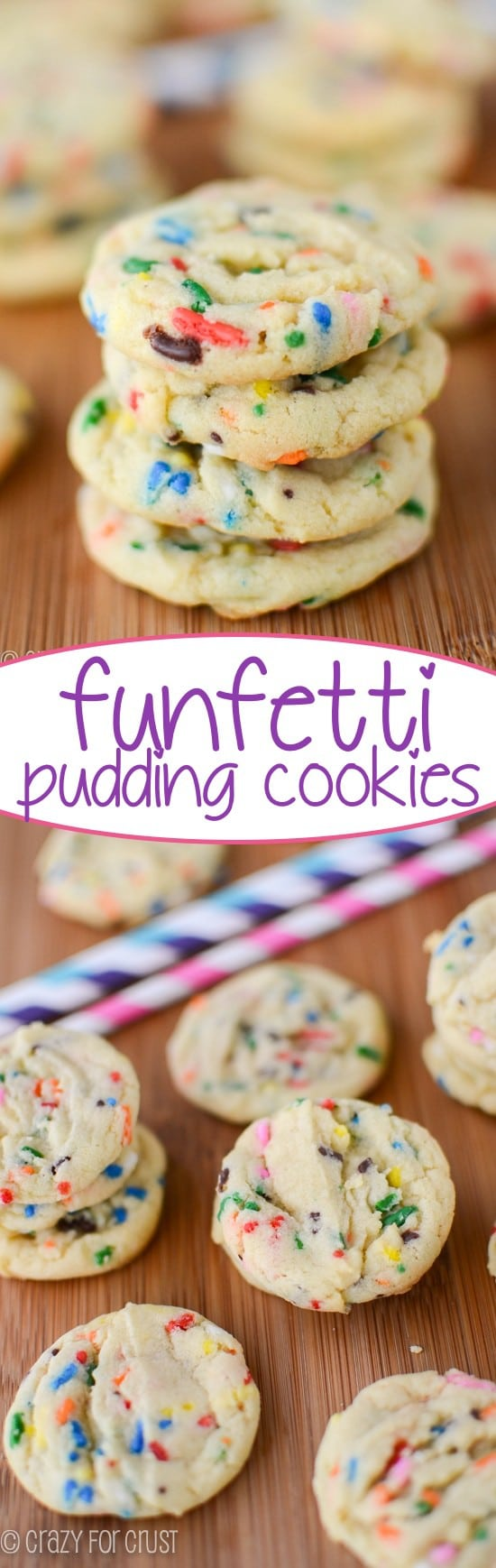 Funfetti Pudding Cookies - an easy cookie recipe even kids can make!!