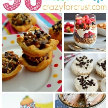 Pic collage of 90 skinny desserts with title