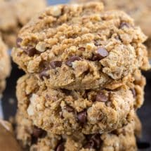 stack of peanut butter breakfast cookies