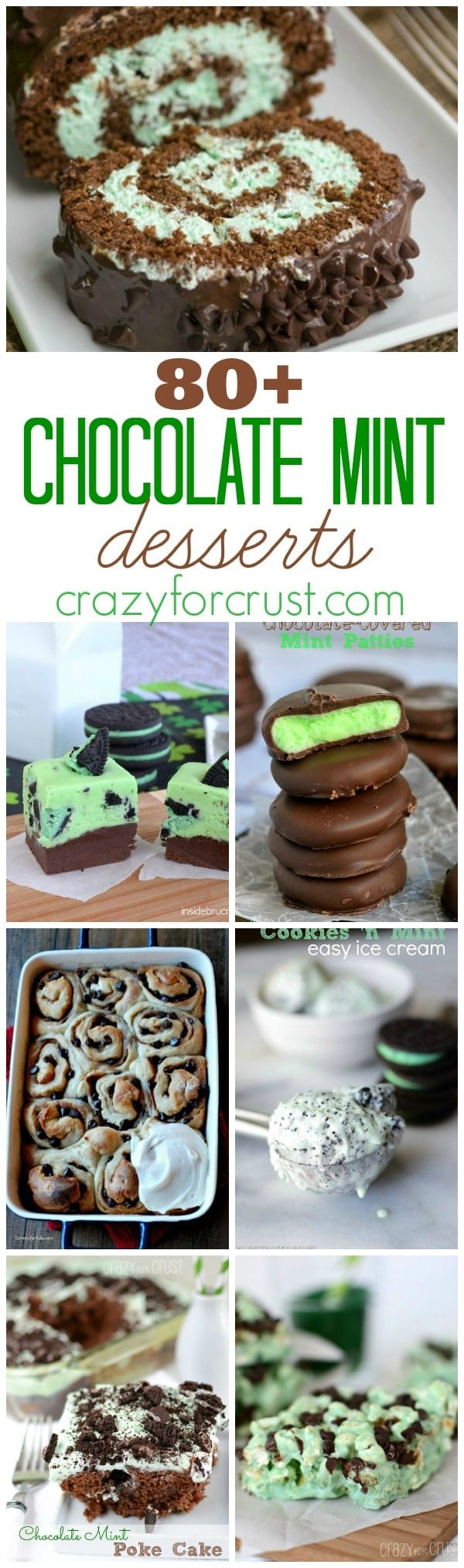 Over 80 Chocolate Mint Desserts | www.crazyforcrust.com
