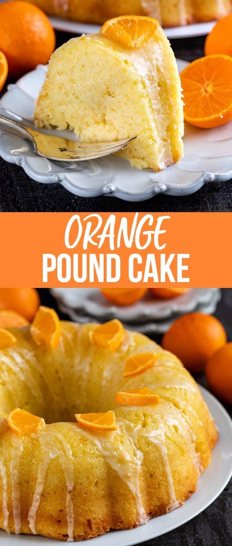 orange pound cake collage