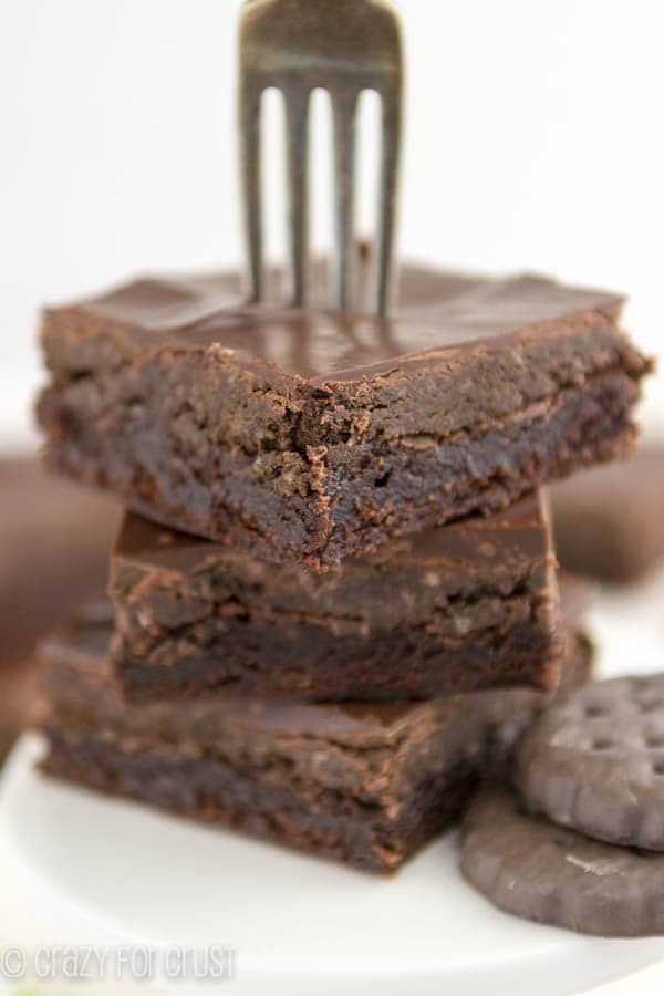 Thin Mint Truffle Brownies-5
