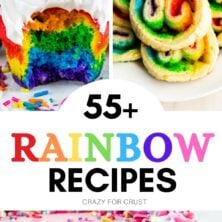COLLAGE of rainbow recipes photos