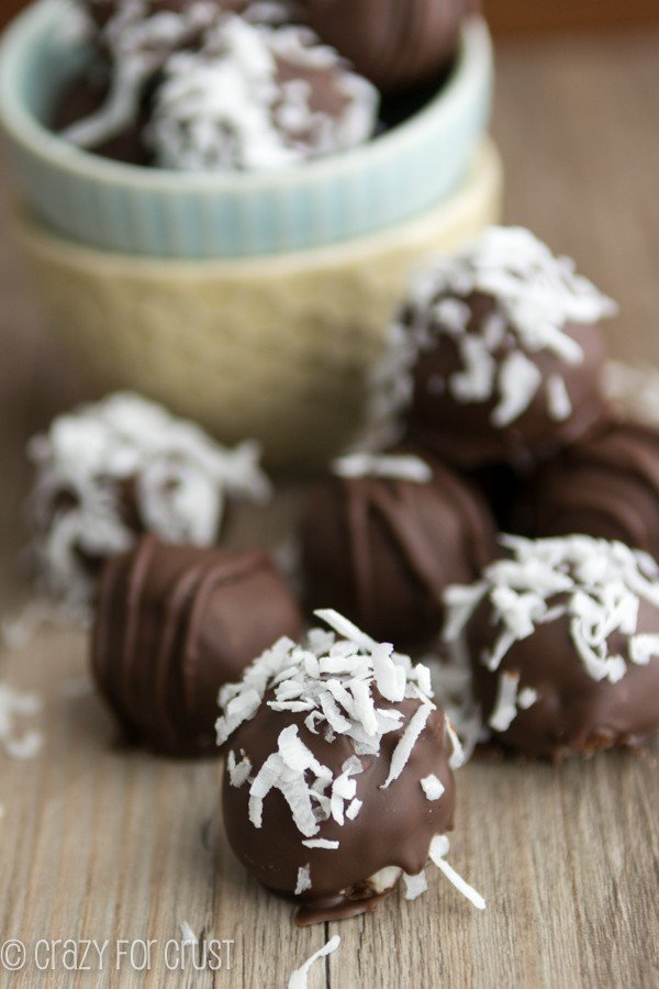 Coconut Cream Truffles | crazyforcrust.com | Triple the coconut flavor!