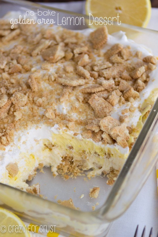 No Bake Lemon Dessert by crazyforcrust.com