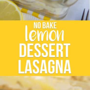 collage of 2 lemon lush photos
