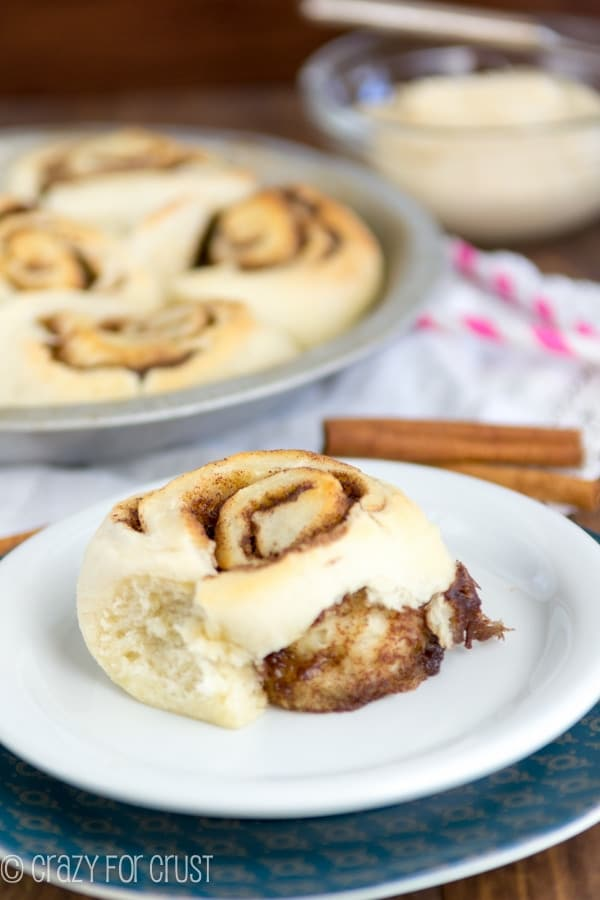 1 hour small batch cinnamon rolls