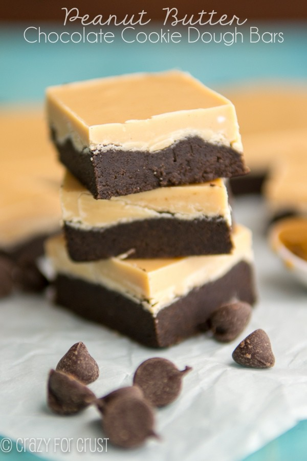 Peanut Butter Chocolate Cookie Dough Bars (3 of 4)w