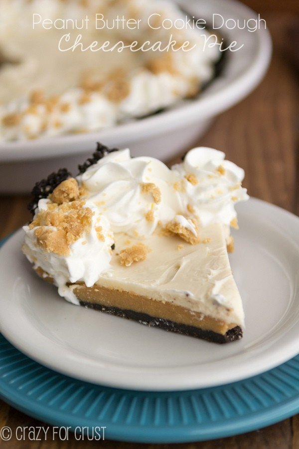 Peanut Butter Cookie Dough Cheesecake Pie (5 of 5)w