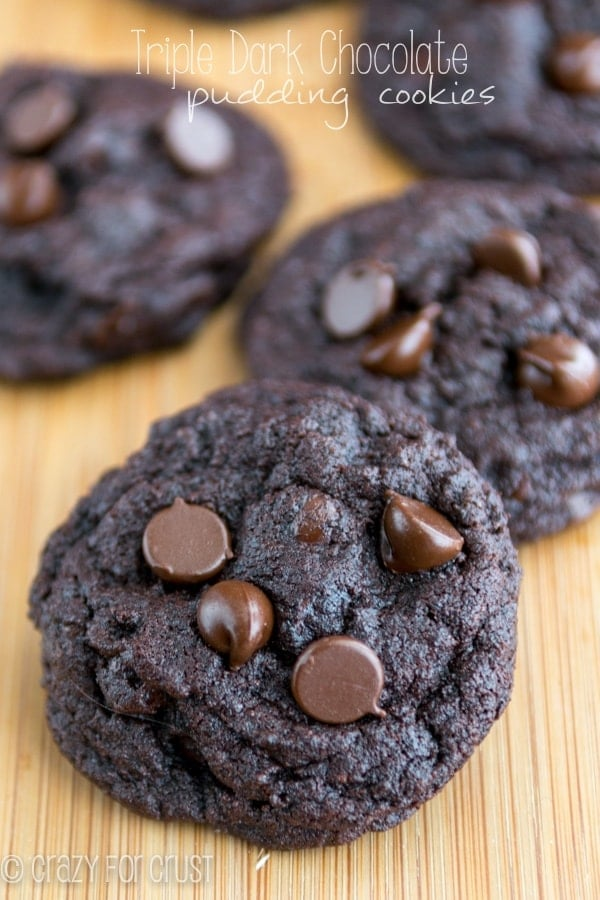 Triple Dark Chocolate Pudding Cookies