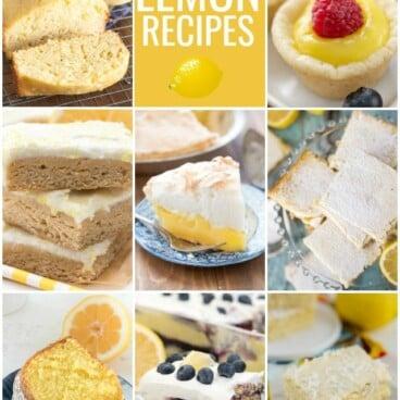 collage of lemon photos