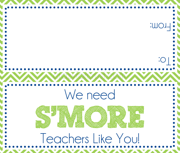We need S'more Teachers Like You free printable at www.crazyforcrust.com