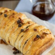 Chocolate Bacon Pull-Apart Bread